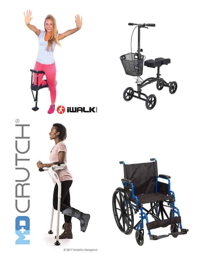 alternative crutches for foot injury